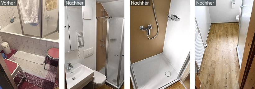 Altersgrecht: der Umbau vom Wannenbad zum Duschbad
