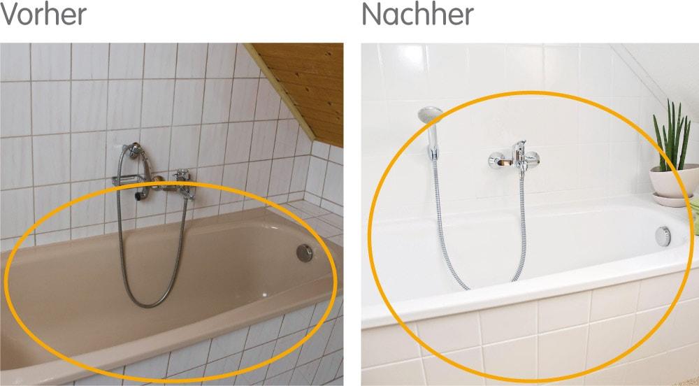 Auch ohne Komplettsanierung kann Ihr Bad eine neue Farbe bekommen