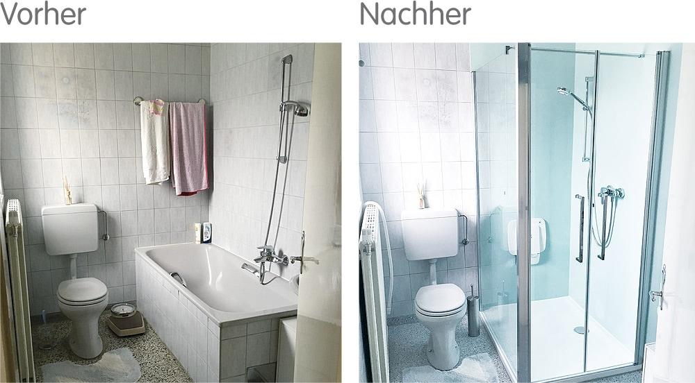 Für schnelle Vermietung hilfreich - das modern renovierte Bad